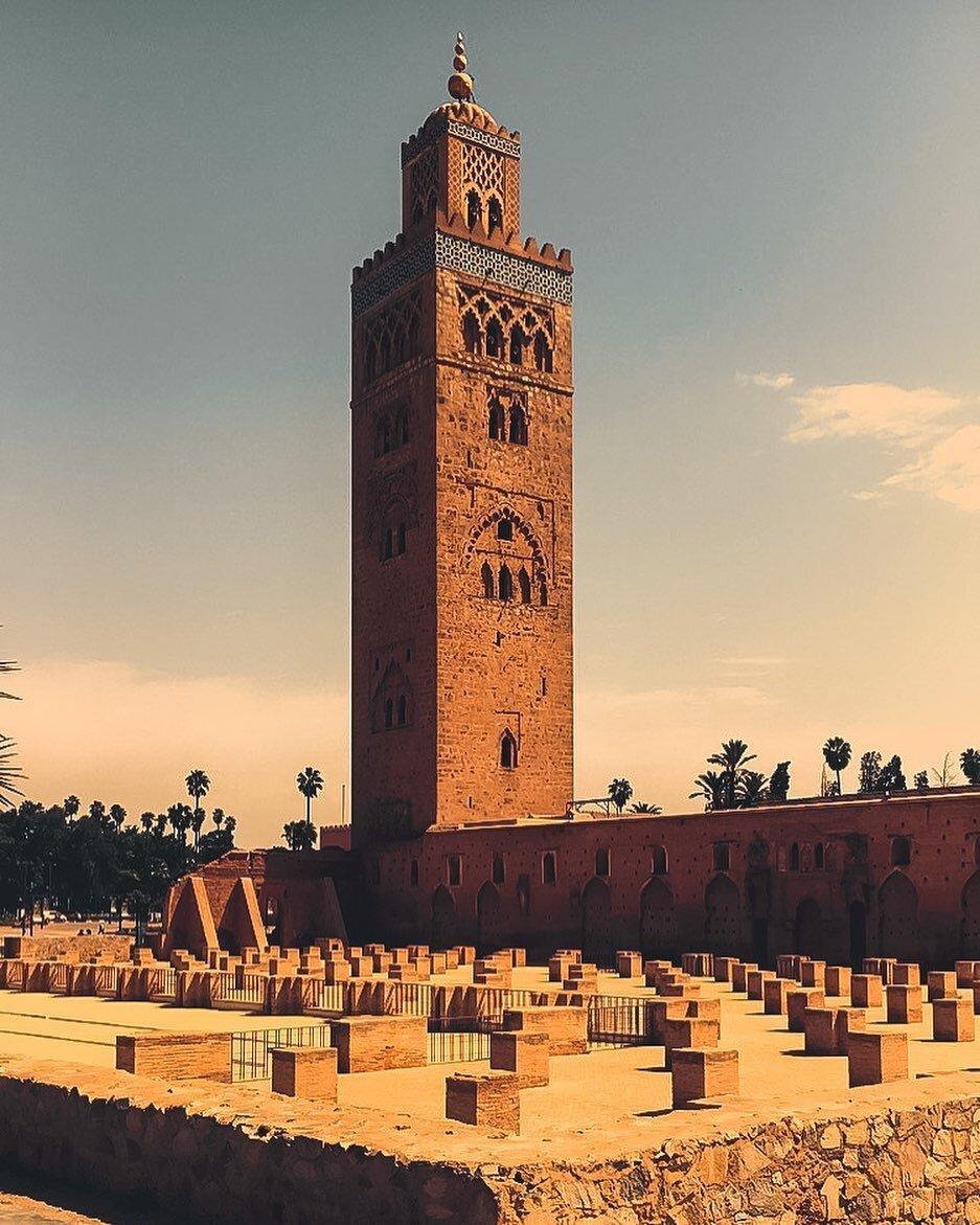 la mezquita de la koutoubia en Marrakech con nuestro itinerario de 8 días en Marruecos