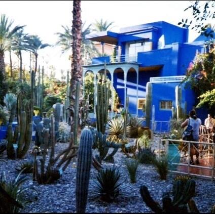 el color azul de los jardines de Majorelle