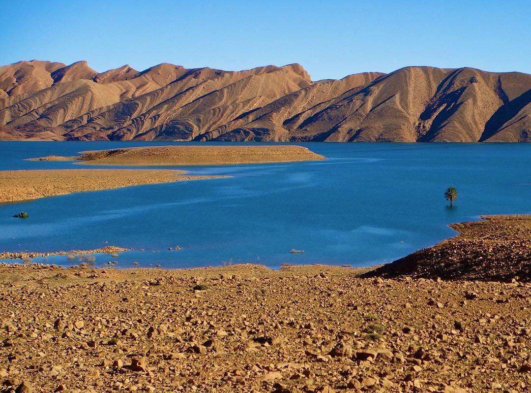 LA presa de agua con nuestro 5 dias itinerario de viaje en MArruecos