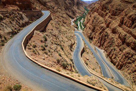 snake road en marruecos