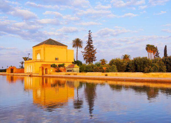 ruta de 12 dias por Marruecos itinerario de viaje desde Casablanca. el menara de marrakesh