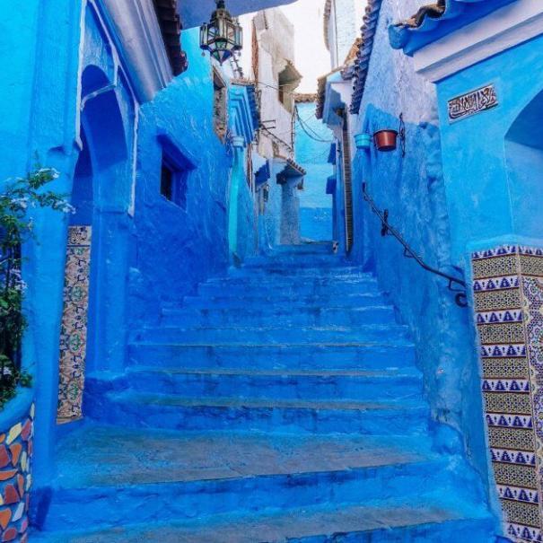 la cuidade azul vamos a visitar lo con nuestro 10 dias en Marruecos, ruta y itinerario del viaje desde Casablanca