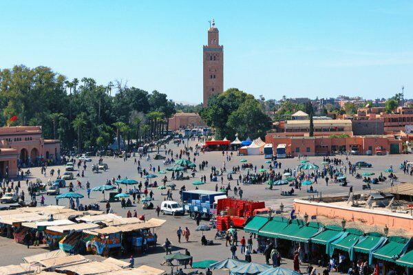 marrakesh, la suidad de touristas