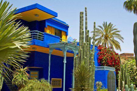 la jardin de majorelle con nuestros 10 dias a marruecos itinerario de viajes