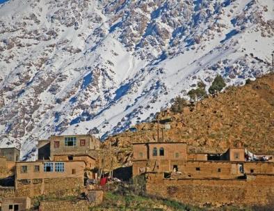 Las montañas del Atlas con nuestro blog