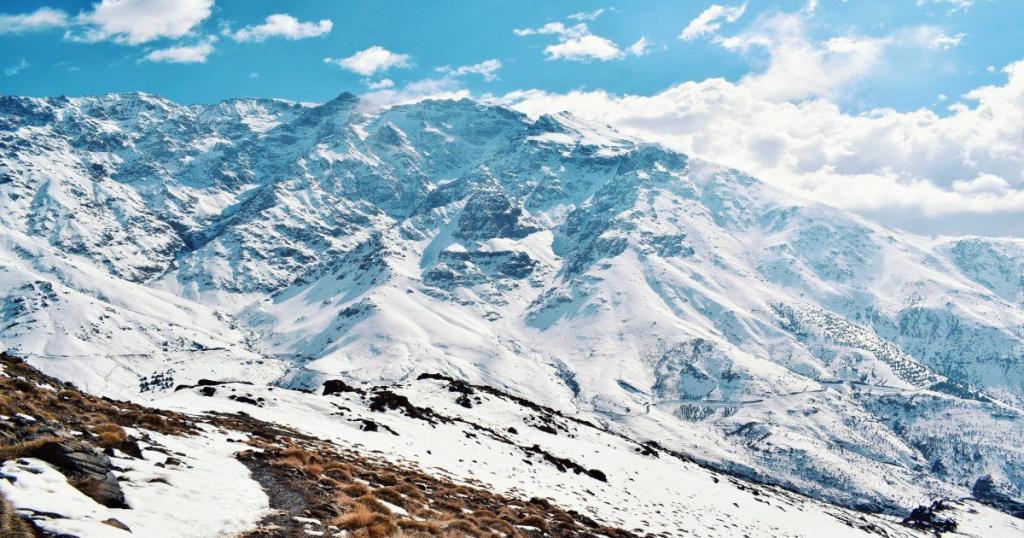 Nieve en Marruecos Montañas del Atlas