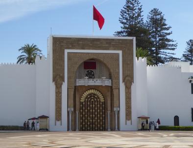 La puerta del palacio del rey en Tetuan