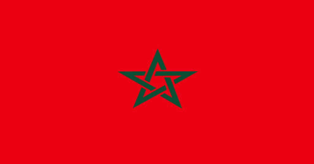 La bandera de Marruecos, la introducción de los lugares de interés