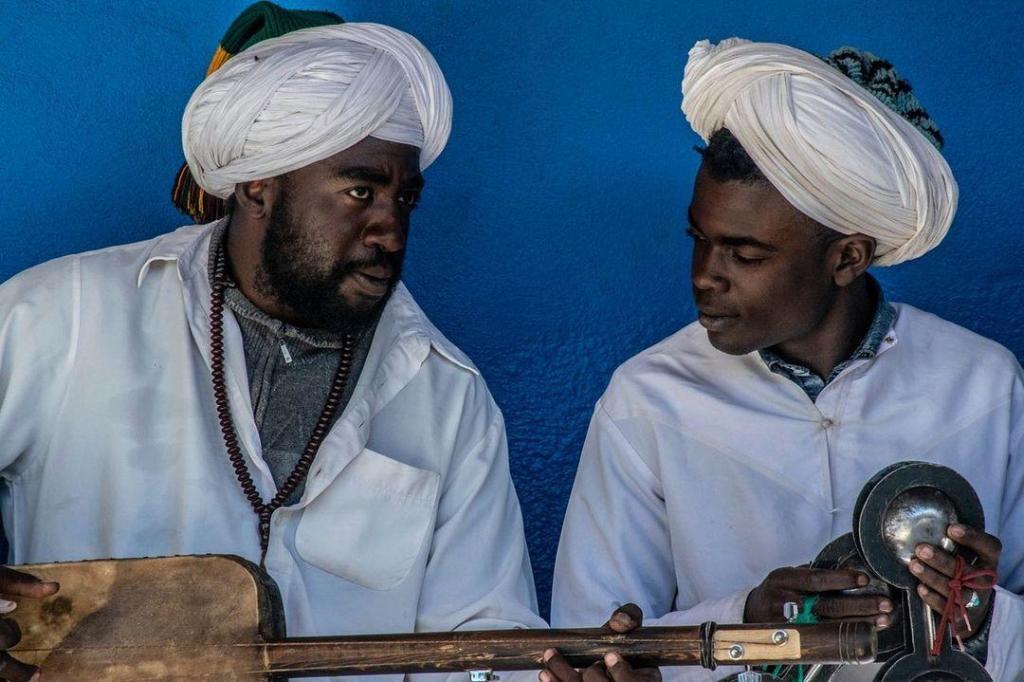 Marruecos gente negra de Gnawa