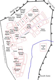 Mapa del sitio Volubilis