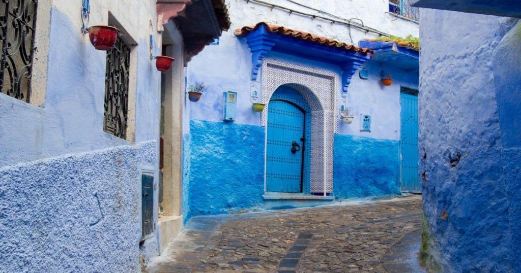colores azules en Marruecos, ait benhaddou