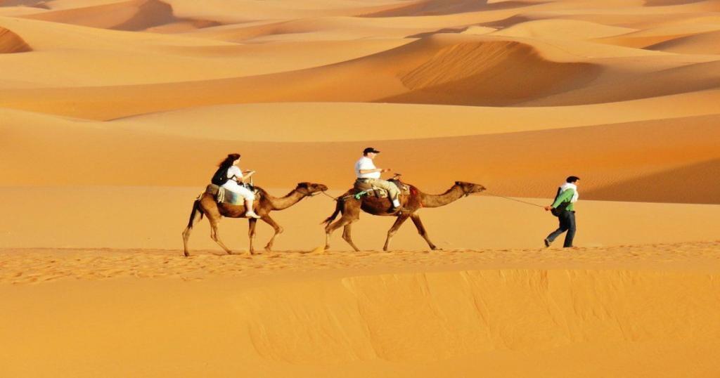 Los colores de las dunas de Marruecos