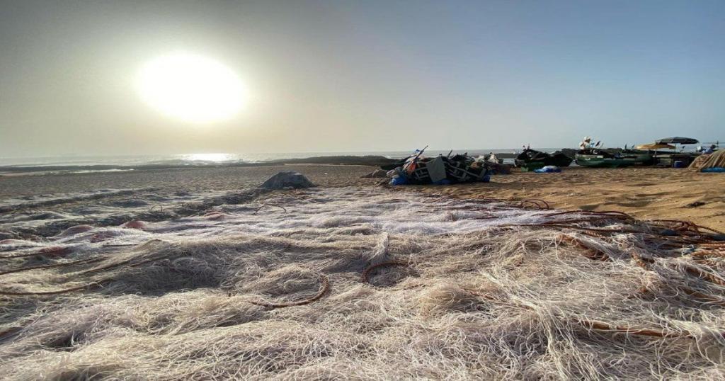 La playa de la laguna de Oualidia