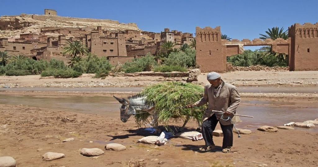 la fortaleza de ait ben haddou en Marruecos