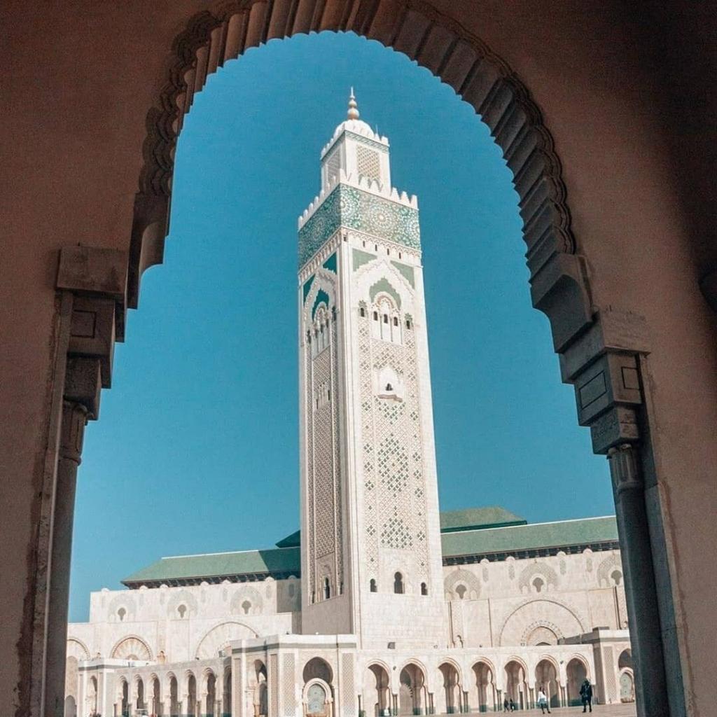 Moschea di Casablanca, l'ultima attrazione che visiteremo con la nostra escursione di viaggio tour itinerario Marrocco 8 giorni
