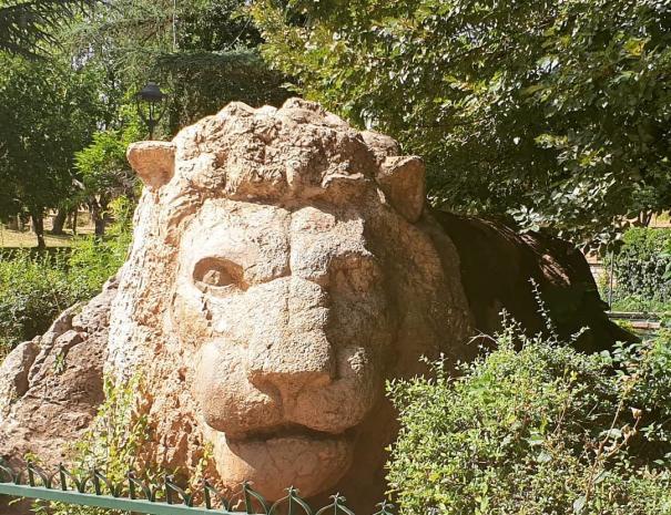la statua del leone dell'atlante a Ifrane, faremo una breve sosta per visitarla durante il nostro viaggio di 9 giorni in Marocco