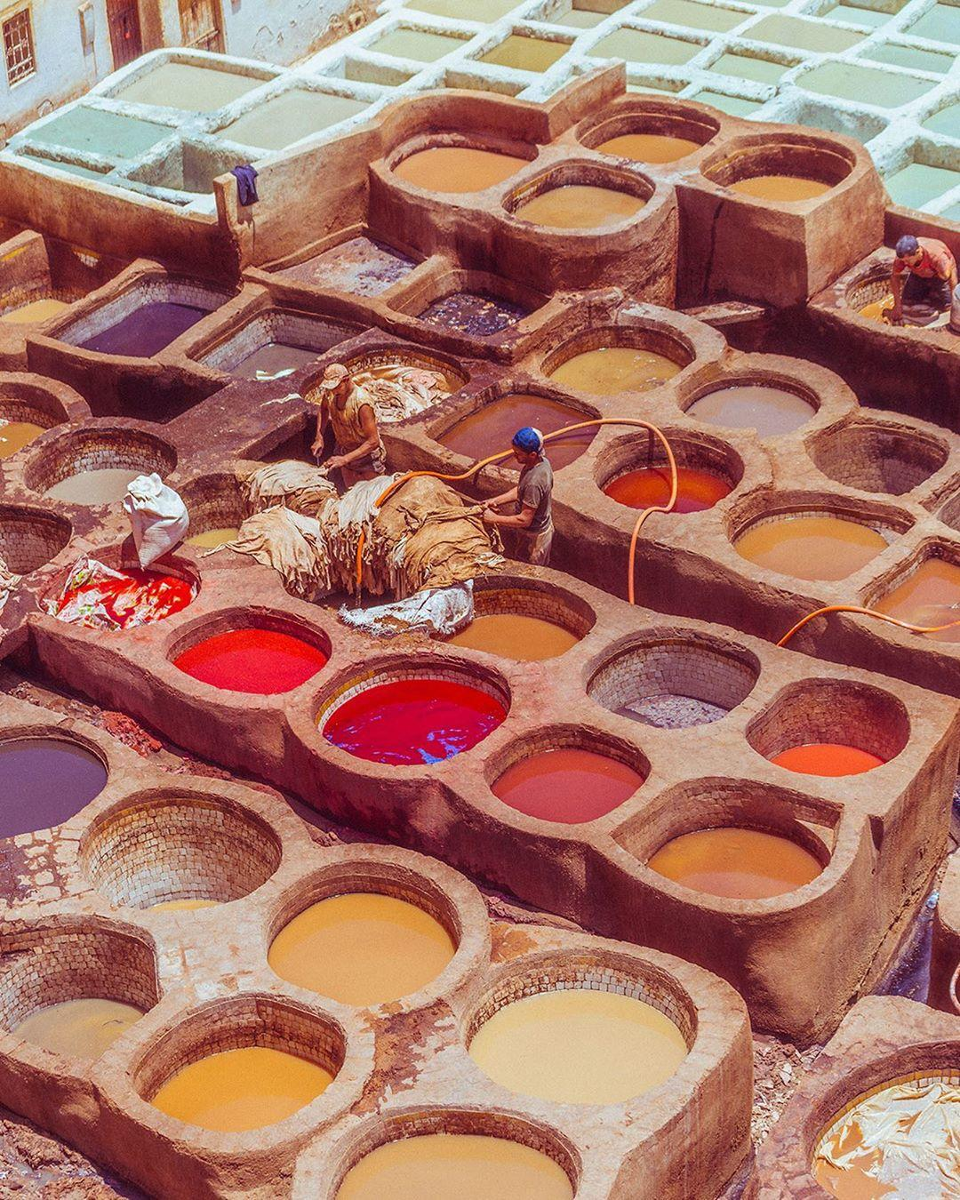 conceria chouara a Fes, un sito da esplorare con il nostro tour di 9 giorni in Marocco