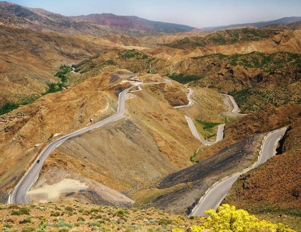 le montagne dell'alto atlante in Marocco