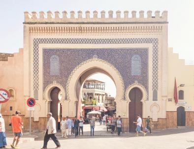 il cancello blu, un sito da visitare a fes con il nostro escursione di viaggio tour itinerario Marrocco 8 giorni