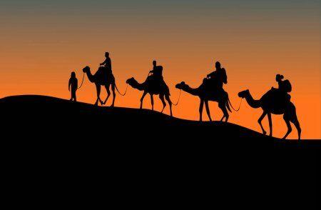 passeggiate a dorso di cammello nel deserto del Sahara Marocco