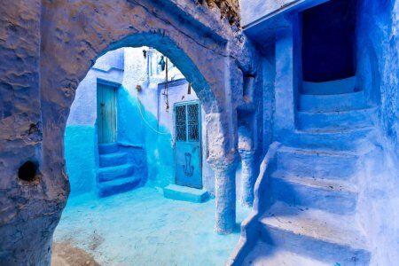 le pareti blu di Chefchaouen, sito da esplorare con il nostro tour di 7 giorni in Marocco