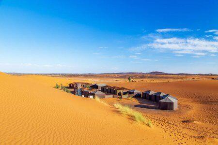 2 giorni di tour del deserto del Sahara da Fes al deserto di Merzouga per il campeggio