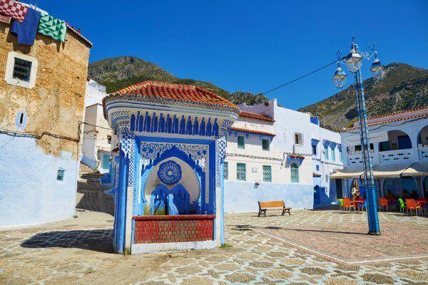cancello in chefchaouen, lo vedremo durante il nostro tour di 7 giorni in Marocco