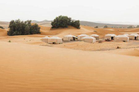Campi nel deserto del Marocco