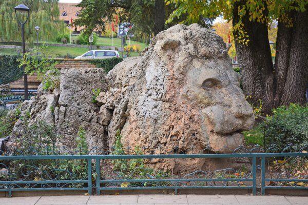 la statua del leone dell'atlante a Ifrane, ci passeremo accanto durante il nostro tour di 7 giorni in Marocco