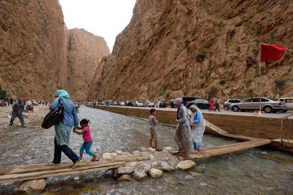 Gole di Tinghir in Marocco