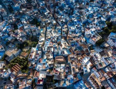 chefchaouen dall'alto, la città che visiteremo da Tangeri