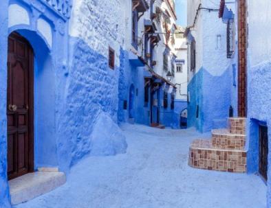 la città blu con il nostro itinerario di tour Marocco 12 giorni