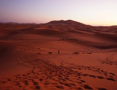 Marruecos desierto del Sahara de Erg Chebbi