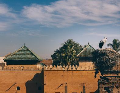 paredes y tejados en Fez