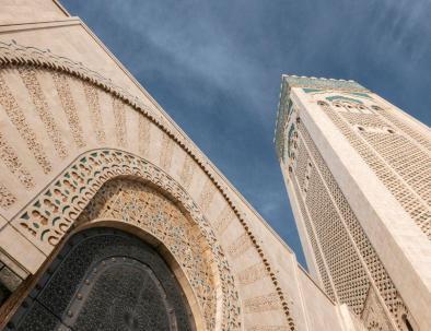 Vista panoramica della moschea di hassan II