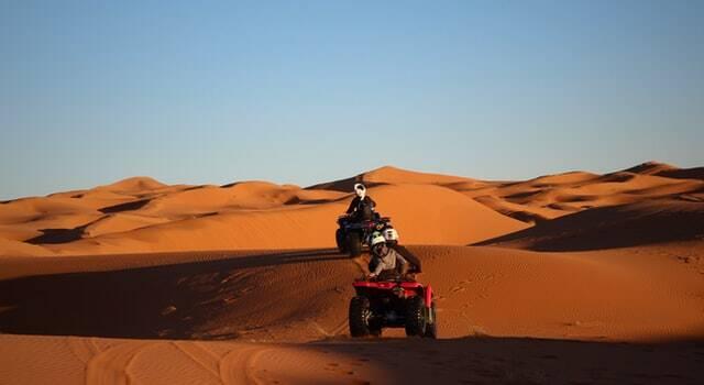 quad nel deserto del sahara di merzouga