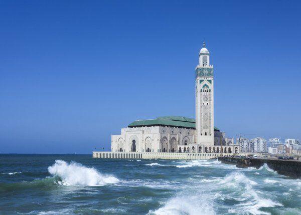 La moschea di Hassan II a Casablanca, un sito che esploreremo con la nostra 10 itinerario di viaggio da Casablanca.