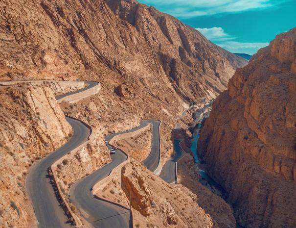 Gole del Dades, passeremo la notte qui con le nostre escursioni e gite nel deserto di Casablanca
