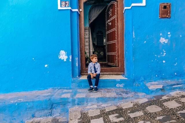 lo chefchaouen della città blu