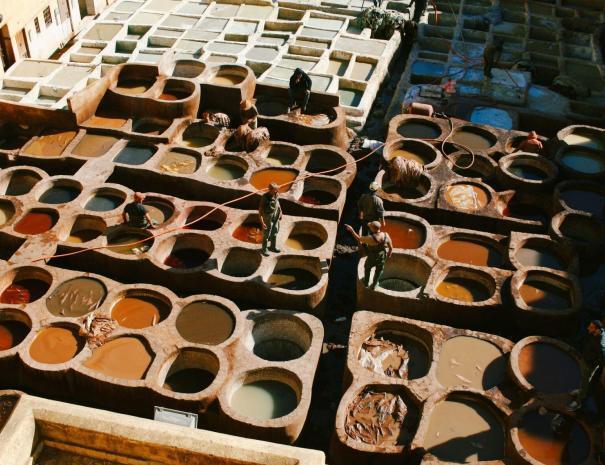 Le concerie di Chouara a fes, esploriamole durante i nostri tour ed escursioni da Casablanca