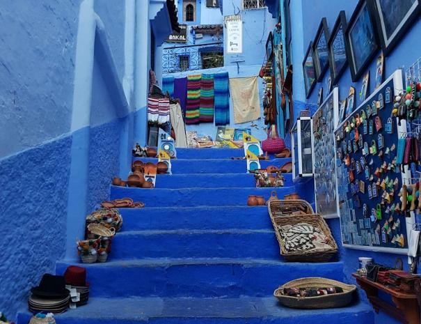 la città blu in Marocco chefchaouen