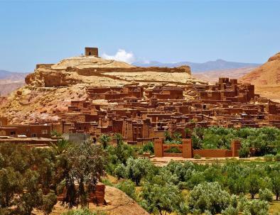 vista panoramica di Ait benhaddou KAsbah