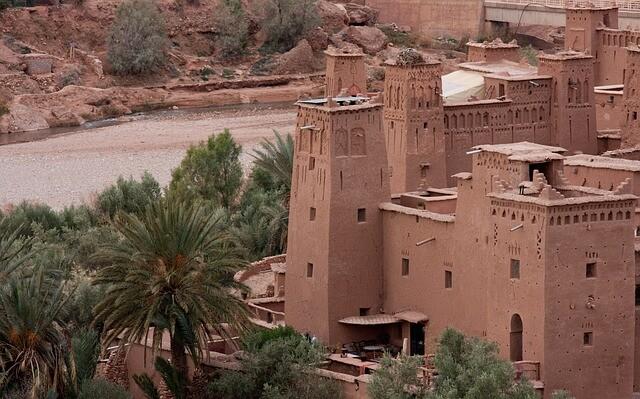 Ait Ben Haddou in Marocco durante il tour del deserto di 5 giorni da Fes a Marrakech