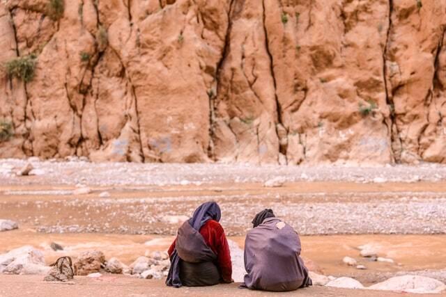 gole del todgha nel sud del Marocco