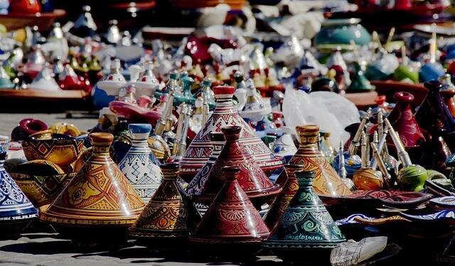 teiere di tè in Marocco