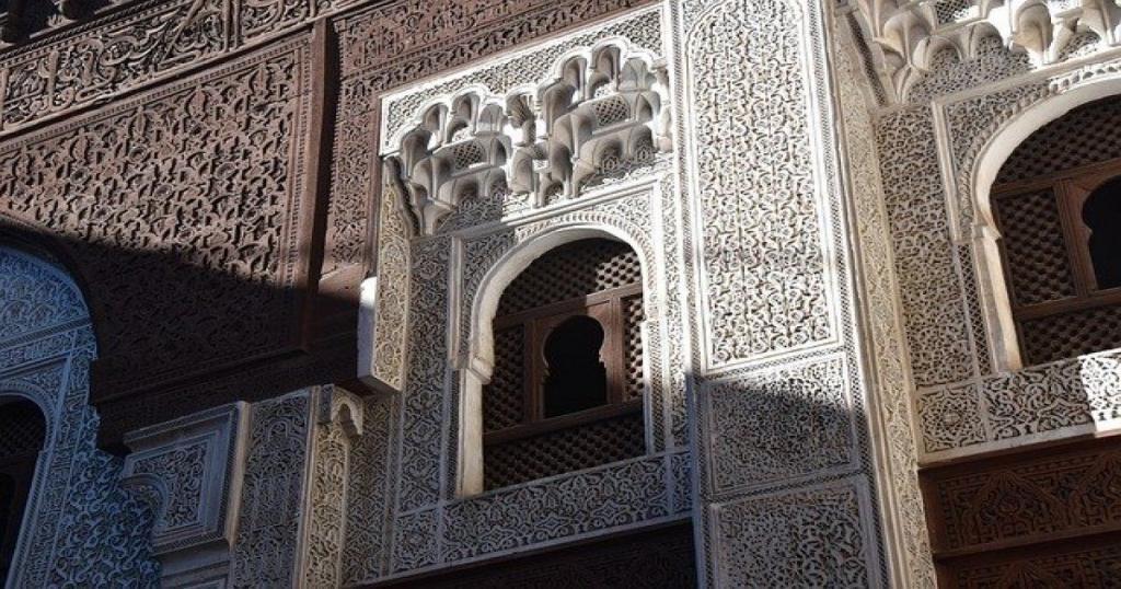 Un muro architettonico del Marocco