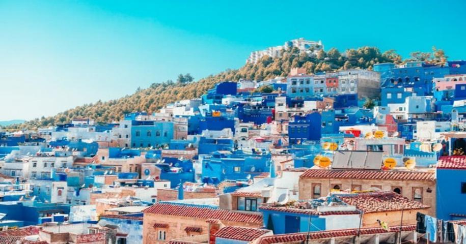 La città blu del Marocco