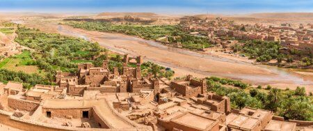 A panoramic view of the kasbah of Ait Benhaddou