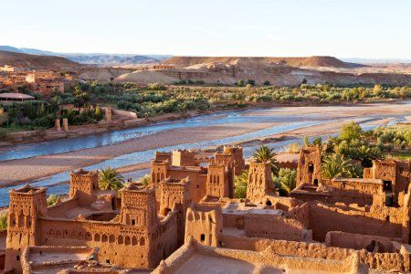 The berber fprtress the KAsbah of Ait benhaddou