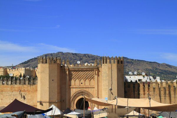 Fes Morocco door, Fes desert tours group and private